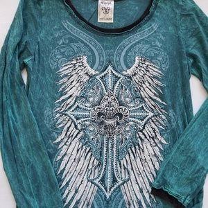 Vocal Long Sleeve Women's BLING X-LARGE T-Shirt